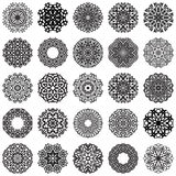 Set of Round Ornaments Royalty Free Stock Images