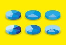 Set of round pie graphs. Illustration Stock Photos