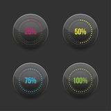 Set of round progress bar element with Royalty Free Stock Image