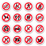 Set of round road signs Royalty Free Stock Photo