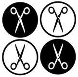 Set round scissors icon Stock Photo