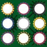 Set of round shapes with clear space for text Royalty Free Stock Images