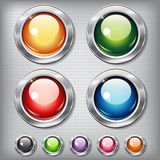 Set of round shiny buttons Royalty Free Stock Photography
