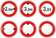 Set round signs Stock Images