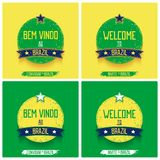 Set of round signs with ribbon royalty free illustration