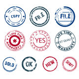 Set of round stamps Royalty Free Stock Photography