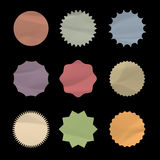 Set of round stickers. Vector eps10 Royalty Free Stock Image