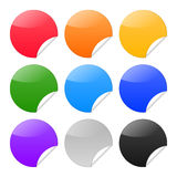 Set of round stickers on white background Royalty Free Stock Images