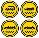 Set round taxi icons Stock Image