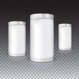 Set of round tins, packaging Royalty Free Stock Image