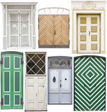 Set of round top doors Stock Images