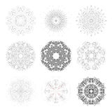 Set of round vector shapes, technical Stock Images