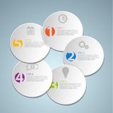 Set of round Vector steps template Stock Photography