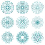 Set of round vignettes and protective nets. Royalty Free Stock Photo