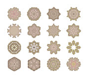 Set of round vintage frames, design elements. Stock Photography