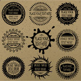 Set of round vintage signs and labels. Royalty Free Stock Images