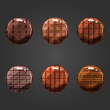 Set of round volume chocolate buttons Royalty Free Stock Photography