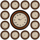 Set Round Wall Clock Stock Images