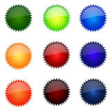 Set Of Round Website Buttons royalty free illustration