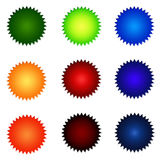 Set Of Round Website Buttons. Set Of Round Colourful Website Buttons - sRGB Colour Space Stock Photo