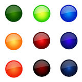 Set Of Round Website Buttons. Set Of Round Glossy Website Buttons - sRGB Colour Space Royalty Free Illustration