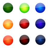 Set Of Round Website Buttons. Set Of Round Glossy Website Buttons - sRGB Colour Space stock illustration