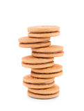 Set round wholewheat biscuits Stock Photo