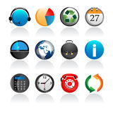 Set of rounded office icons. Set of 12 business and office icons,vector Royalty Free Stock Photo