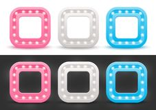 Set of rounded square frames Stock Photography
