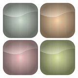 Set of Rounded Square Pastel Stripes Icons. A set of blank rounded square icons with stripey backgrounds in retro pastel hues of blue, peach, pink and green Royalty Free Stock Image