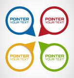 Set of Rounded Web pointers Royalty Free Stock Photos