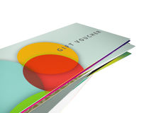 Set of a row of different designs for gift vouchers Royalty Free Stock Images
