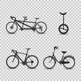 Set rower ikony również zwrócić corel ilustracji wektora ilustracja wektor