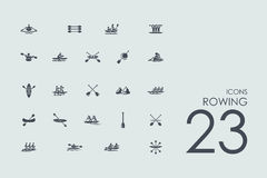 Set of rowing icons. Rowing vector set of modern simple icons Stock Images