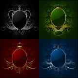 Set royal backgrounds with frame. Vector Stock Photos