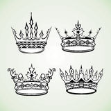 Set of royal crowns image Stock Photography