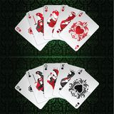 Set of royal flush Stock Photo