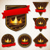 Set of royal labels Royalty Free Stock Images