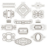 Set of royal monogram design. royalty free illustration