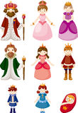Set of Royal people Royalty Free Stock Images