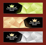 Set Royal Triangle banners Royalty Free Stock Photography