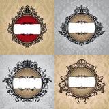 Set of royal vintage frames Stock Images