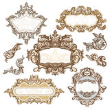 Set of royal vintage frames Royalty Free Stock Photography