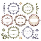 Set of royal vintage frames Royalty Free Stock Images