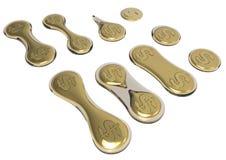 Set rozdzielające monety Zdjęcie Stock
