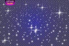 Set rozjarzeni światło skutki odizolowywający na przejrzystym tle royalty ilustracja