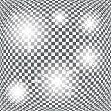 Set Rozjarzone Lekkie gwiazdy z Błyska wektor Obraz Stock