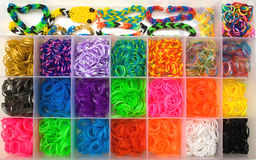 Set of rubber bands to weave bracelets Royalty Free Stock Photo