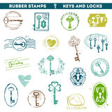 Set of Rubber Stamps Royalty Free Stock Image