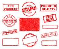 Set of rubber stamps stock photo